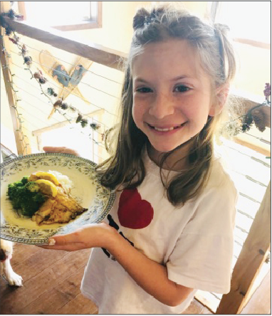 Sayde Woodruff with one of her dishes.