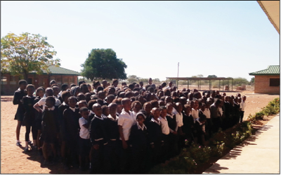 The school the group visited while in Africa.