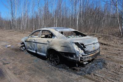 Remains of 2011 Ford Taurus