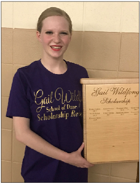 Rhiannon Seiser is the 9th annual recipient of the Gail Wildfong Scholarship.