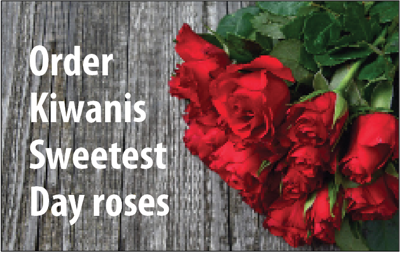 Order Kiwanis Sweetest Day roses