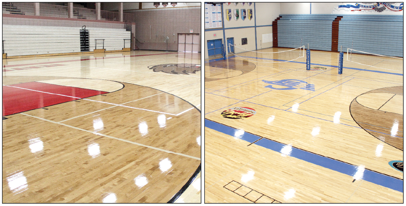 At Left: Beavertonu0027s Gym Floor Sparkles With Its New Improvements. At  Right: Gladwinu0027s Gym Floor Upgrades Are Equally Stunning.