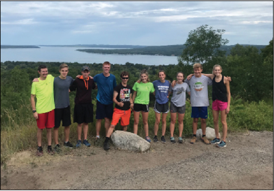 The Gladwin Cross Country team trained in Northern Michigan last summer.