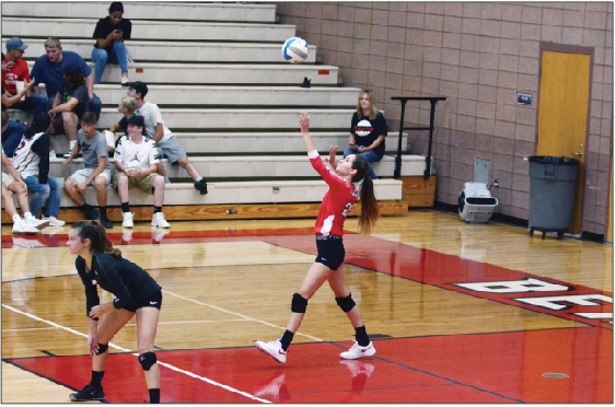 Hannah Stearns served 10 straight points to help Beaverton close out game three.