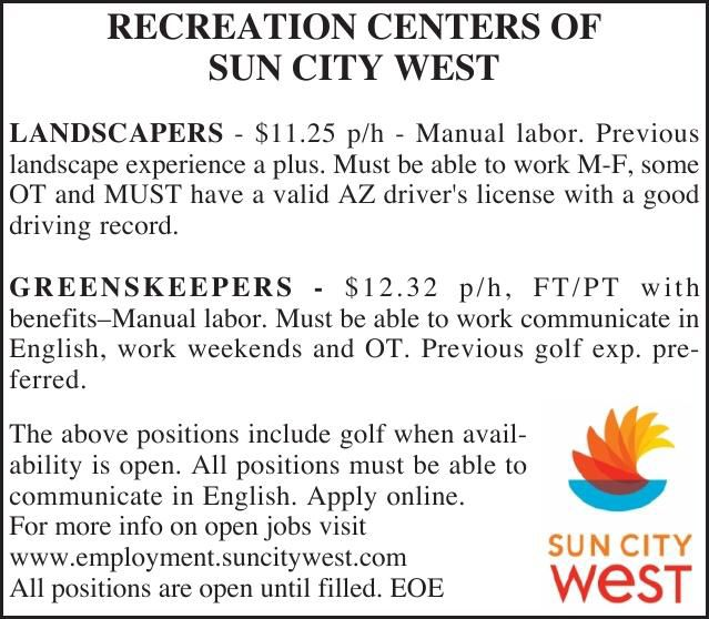 RECREATION CENTERS OF