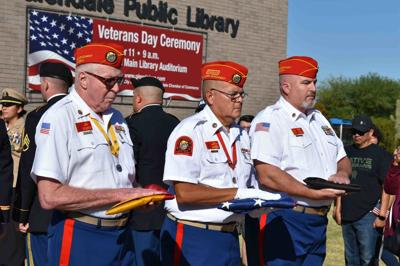 Members of the Marine Corps League's Old Breed Detachment No 767