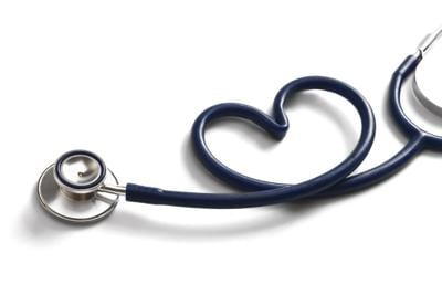 A stethoscope in the form of a heart