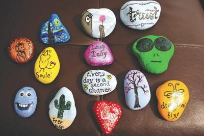 Phoenix rocks Peoria Glendale Painted