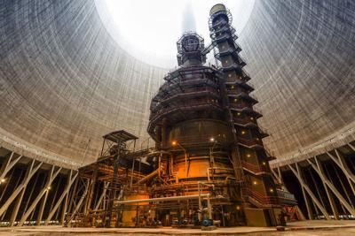 Thermal power plant interior Wastewater plant opens natural gas facility
