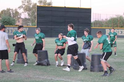 Greenway High football practice