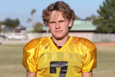 Senior quarterback Conner Cordts Cactus football team