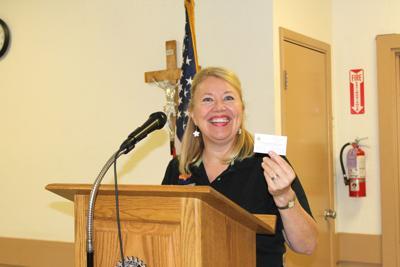 Debbie Lesko visits Rotary Club