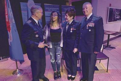 Lt. Col. Gordon Helm, Destiny Bain, Lt. Kelli Hammit and Maj. Randy Hammit