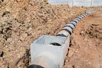 Concrete drainage pipe and manhole Glendale irrigation
