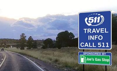 Arizona Department of Transportation businesses sponsor 511 signs