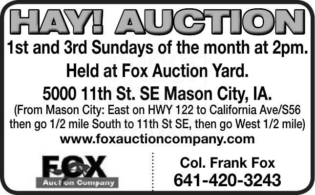 Hay Auction
