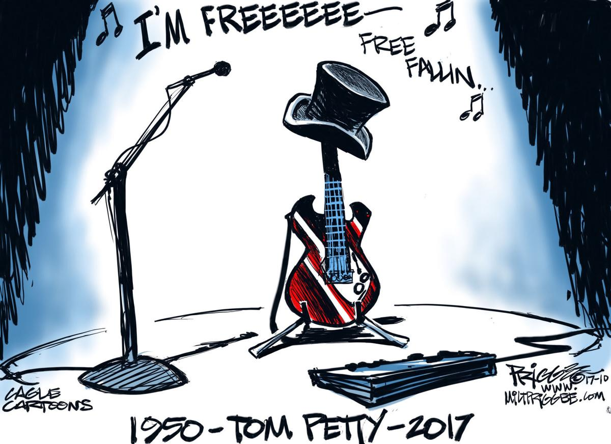 Tom Petty -RIP by Milt Priggee, miltpriggee.com