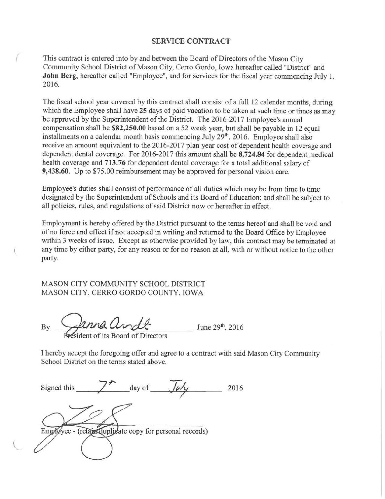 Mason City School Board emails: Director's 27% pay bump raises ...