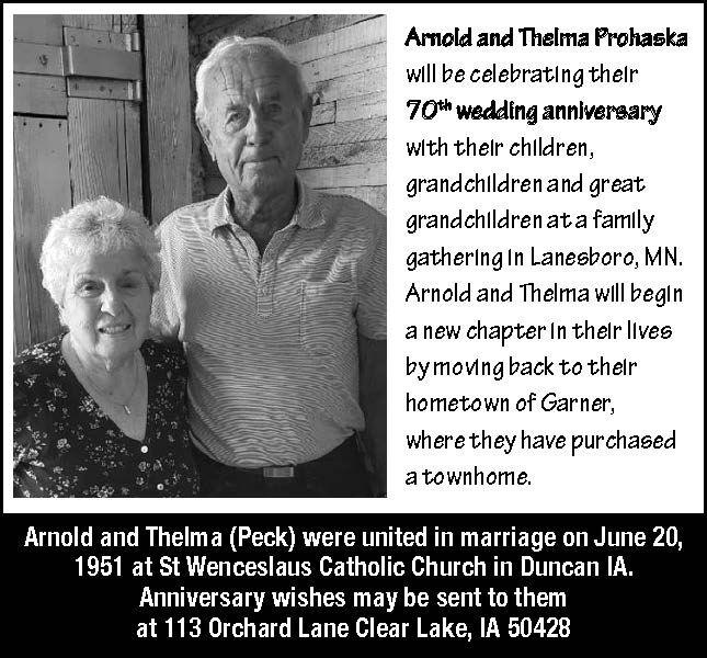 Happy Anniversary Arnold and Thelma Prohaska