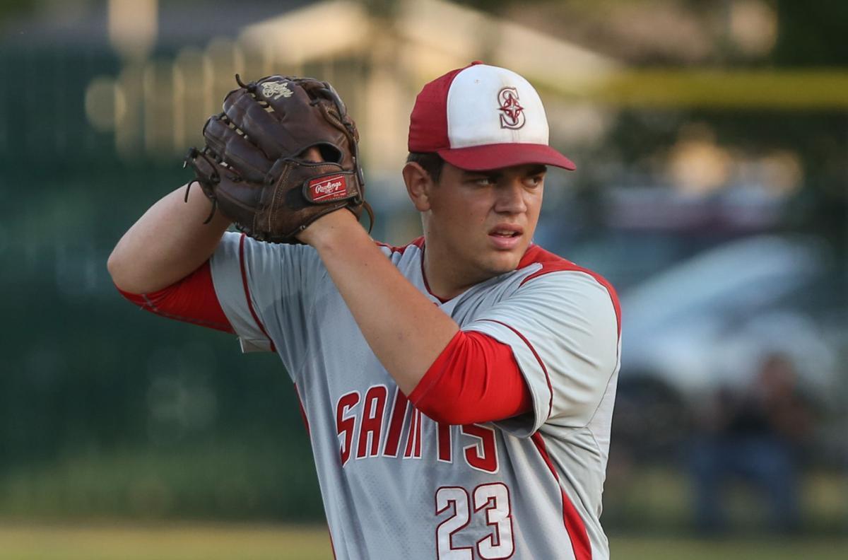 Newman Catholic baseball vs St. Ansgar 06-11-21 - Hansen pitch