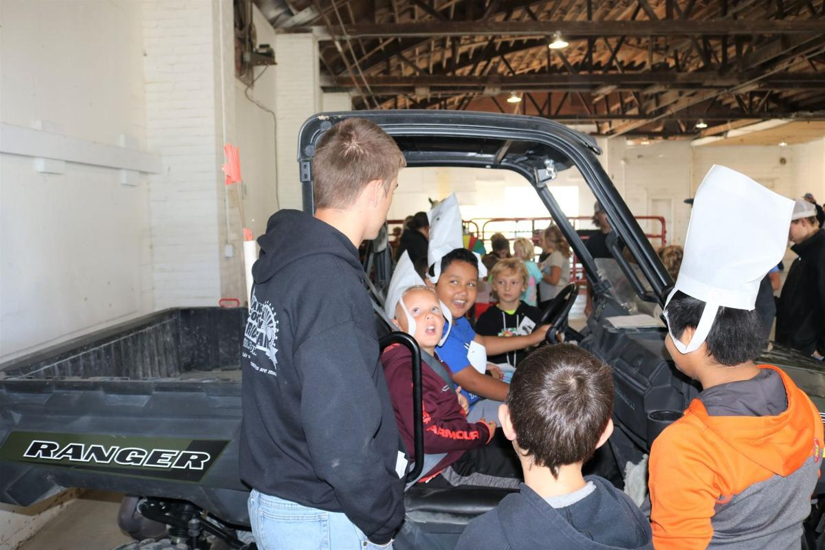 Third-grade boys from the West Hancock Community School District loved the Ranger ATV parked in the commercial building at the fairgrounds in Britt..JPG