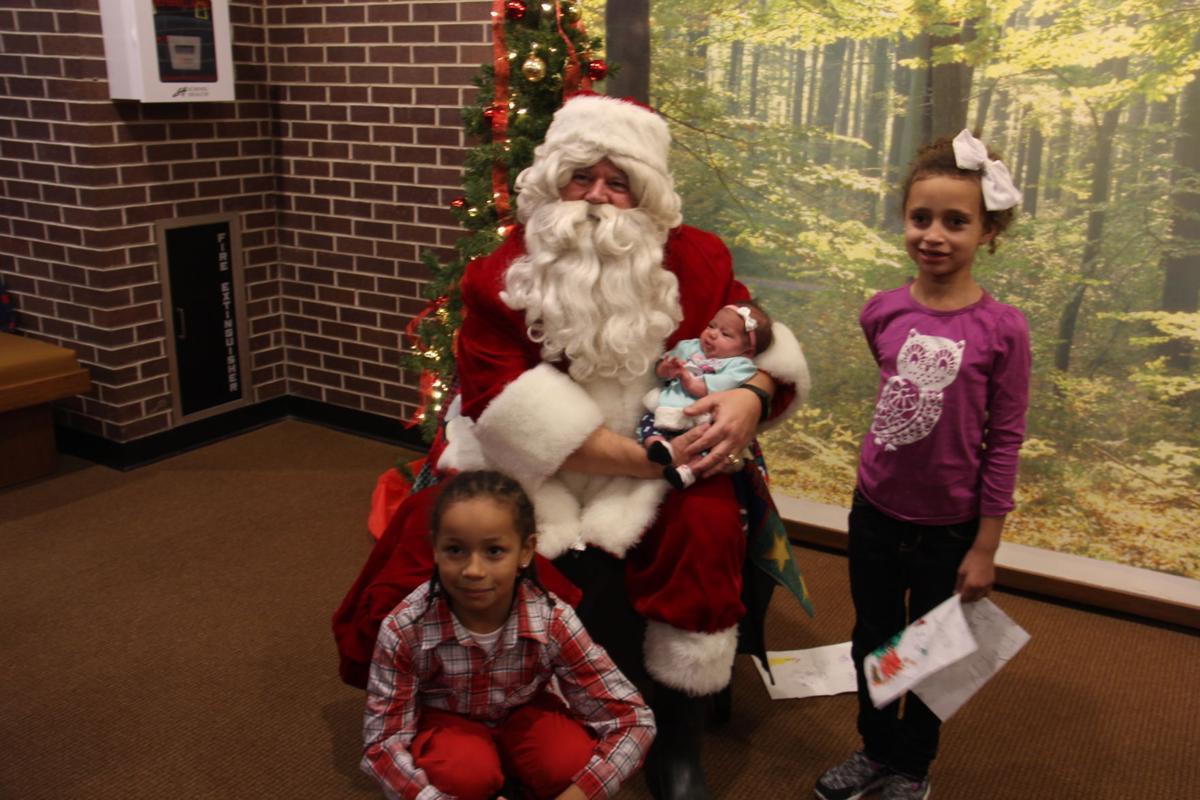 Santa photo with Williams' kids