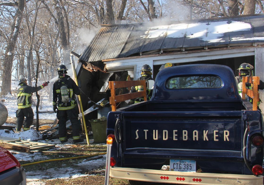 Shed Fire   Studebaker