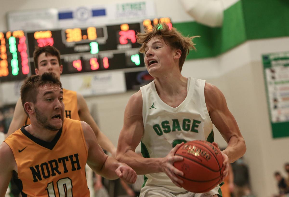 Osage boys basketball vs North Butler -Bobinet