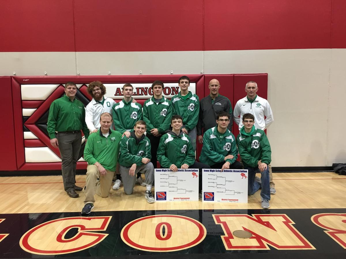 OHS wrestlers and their coaches