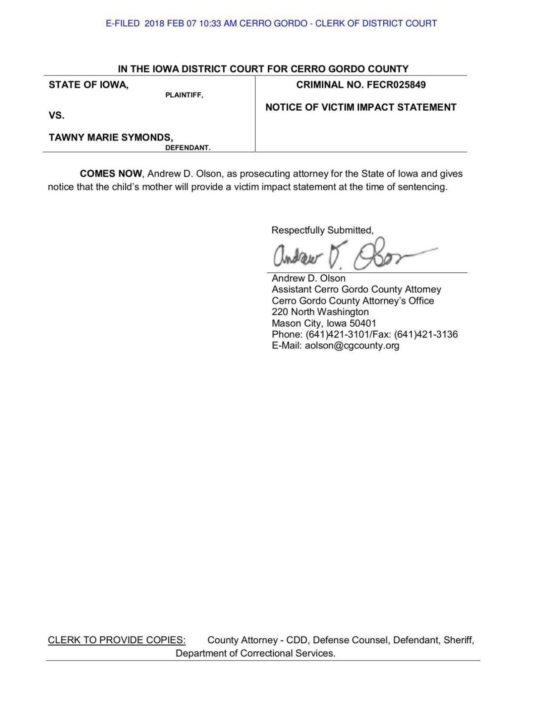 tawny symonds case victim impact statement