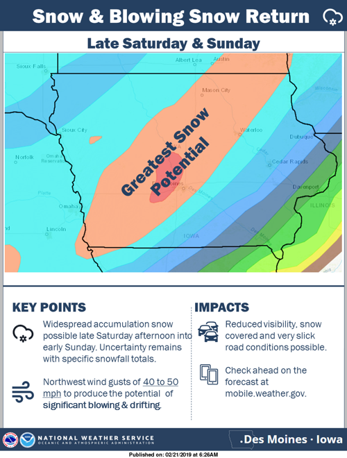 Snow Foolin North Iowa Could Be Slammed With Snow In Another