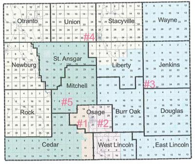 Mitchell County redistricting map