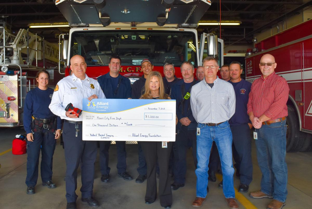Mason City Fire Department with grant