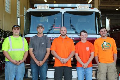New members of the Osage Volunteer Fire Department