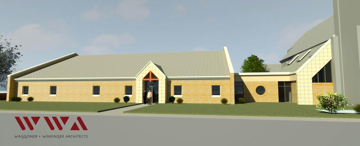 Sacred Heart Parish Center architectural drawing