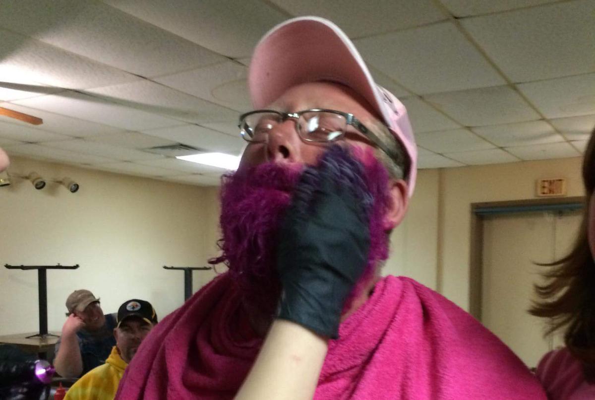 Ole Flaten's pink beard