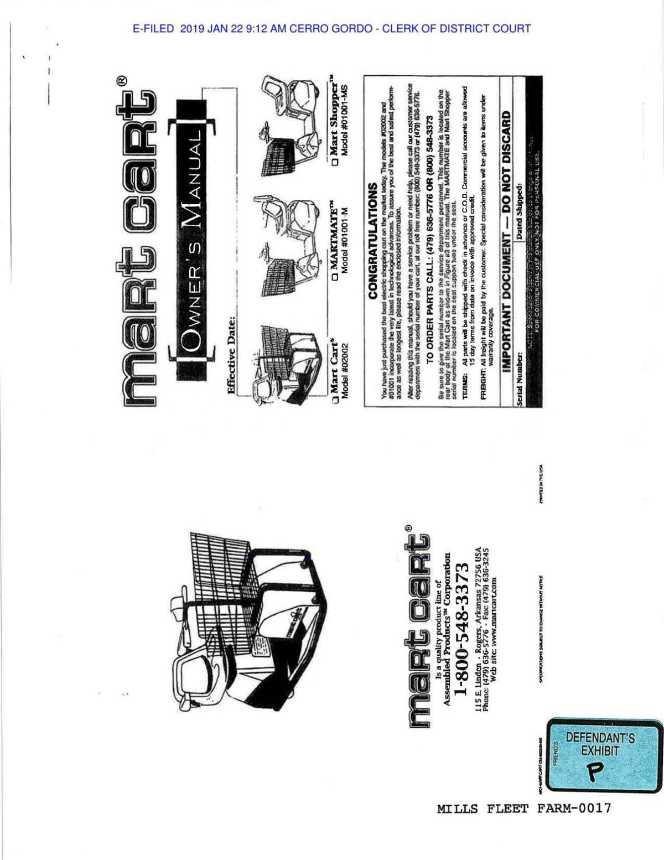 Exhibit P Mart Cart Owners Manual.pdf