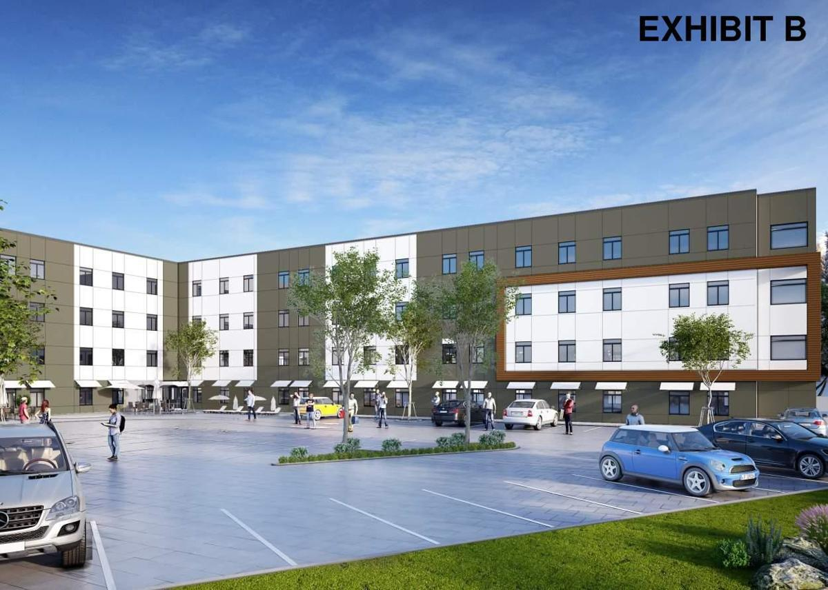 Renderings for downtown 113-unit apartment project