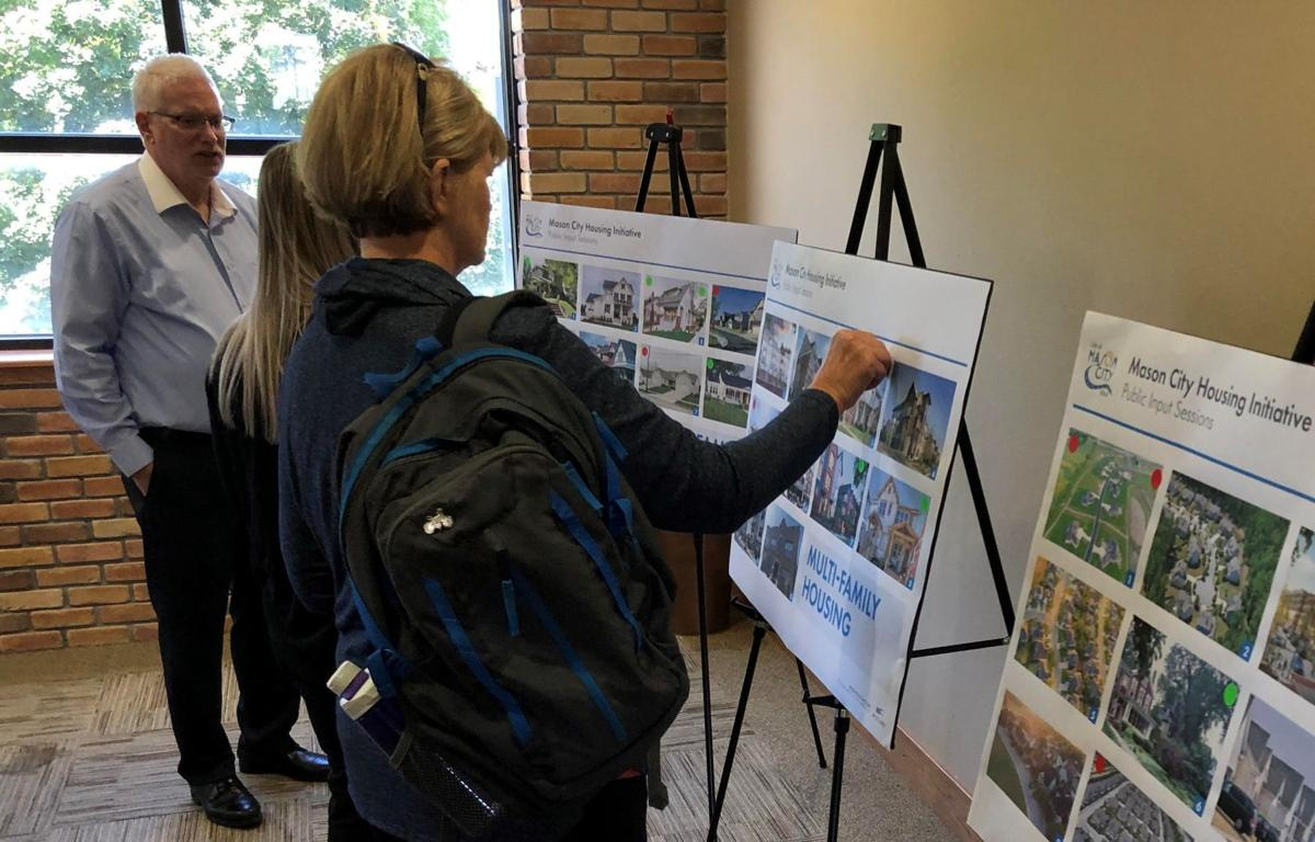 Mason City housing needs event- Stickers