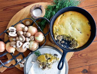 Chicken and portobello pot pie