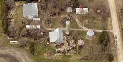 Aerial snapshot of Herman Goll's property