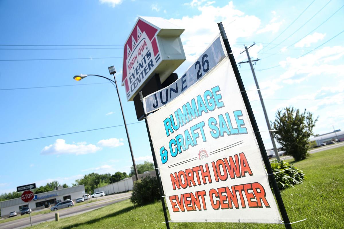 North Iowa Events Center sale sign