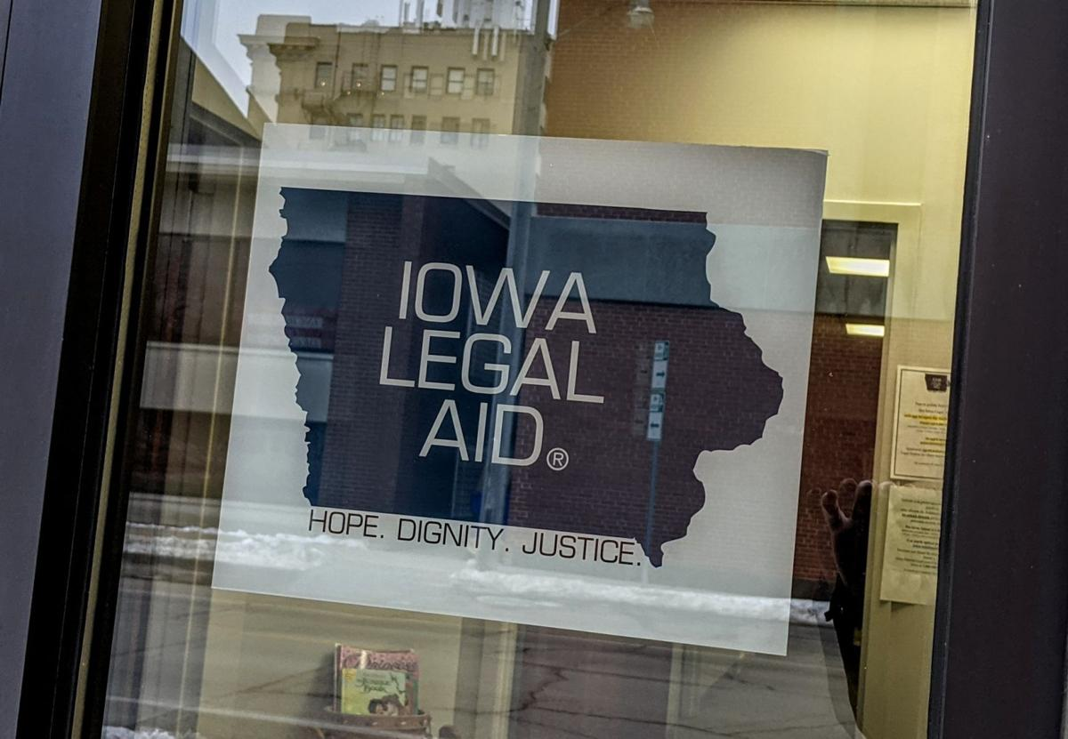 Iowa Legal Aid exterior window