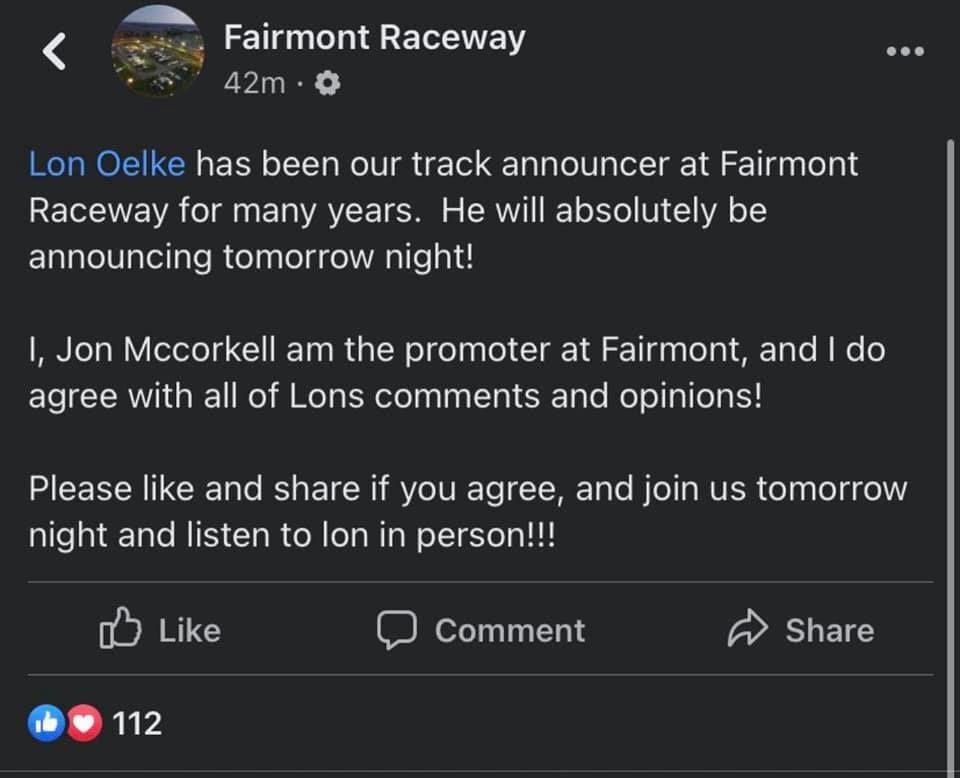 Fairmont Speedway
