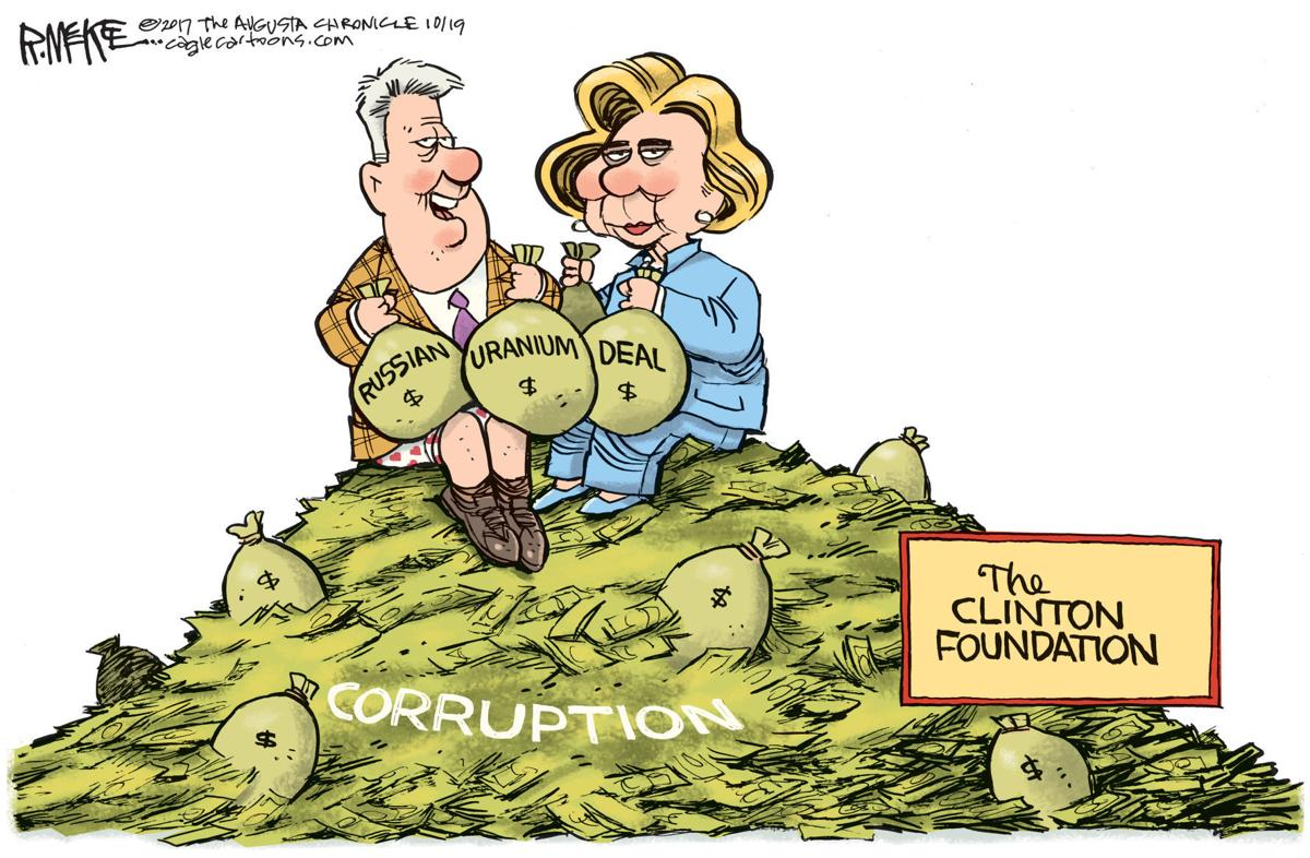 Clinton Foundation by Rick McKee, The Augusta Chronicle