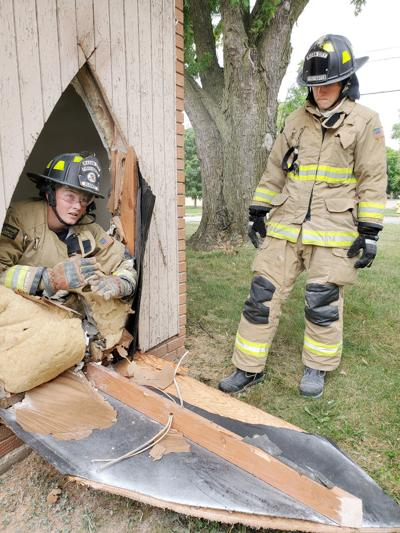 Mason City firefighters conduct search and rescue training