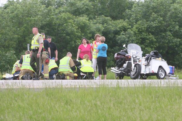 Motorcycle accident on interstate blocks traffic | Mason City