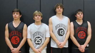 Riceville boys basketball captains