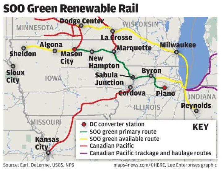 SOO Green Renewable Rail graphic