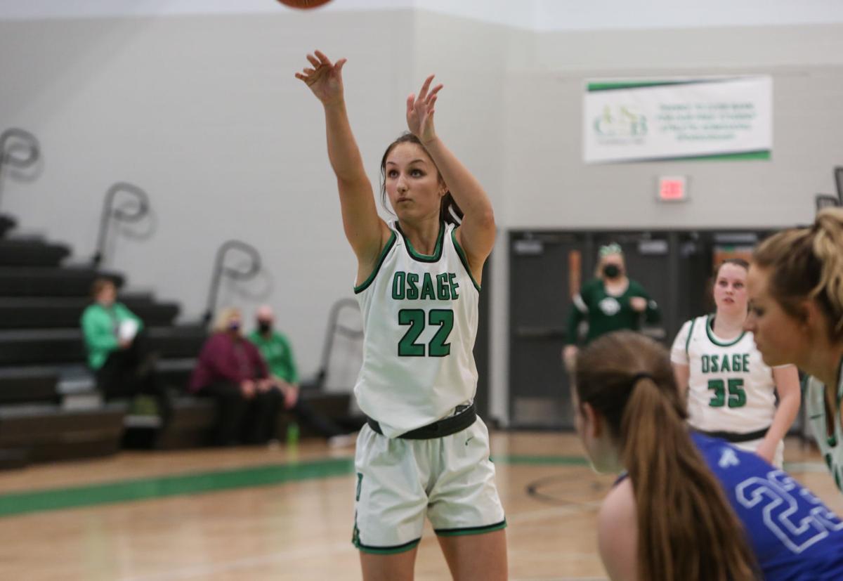 Osage girls basketball vs. Rockford - Johnson